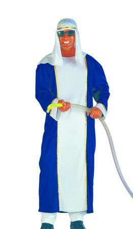 Kostüm Scheich mit Haube Gr.50-56 Ölscheich Sultan Orient Karneval Fasching – Bild 3