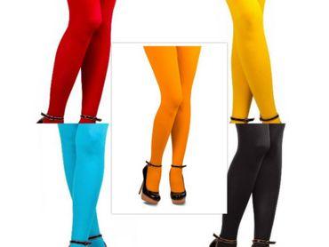 Nylonstrumpfhose Strumpfhose 70DEN Gr.L-XL div. Farben Damenstrumpfhose Karneval – Bild 1