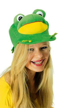 Kappe Plüsch dicker Frosch witzig Froschkappe Froschmütze Karneval Fasching – Bild 2