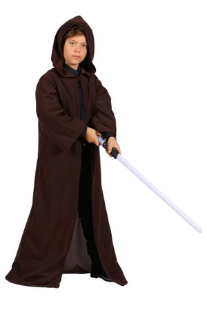 Kutte Umhang Kinder mit Kapuze schwarz oder braun Gr.140-152 Halloween Kostüm – Bild 5