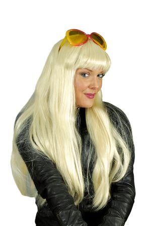Perücke Damen Langhaar mit Pony 3 Farben Cher Langhaarperücke Karneval Halloween – Bild 3