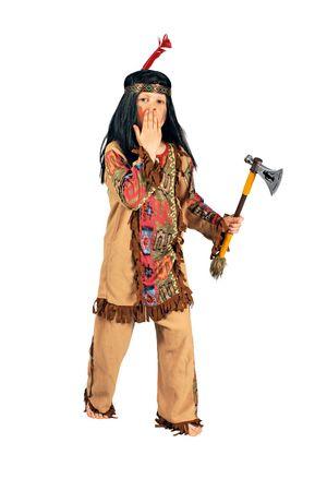 Kostüm Indianer 3tlg. Indianerkostüm Kinder Karneval Wilder Westen Western – Bild 1