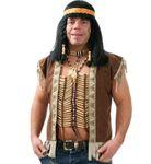 Indianer Kette Häuptling Brustschmuck Brustkette Indianerschmuck Karneval