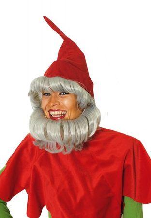 Zwergenmütze mit Bart rot oder grün Zwerg Gartenzwerg Karneval Fasching NEU – Bild 3