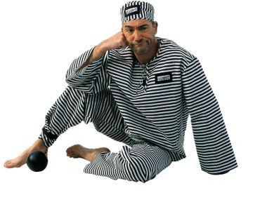 Sträflingskugel Sträfling Knacki Prisoner Karneval Junggesellenabschied Fasching – Bild 1