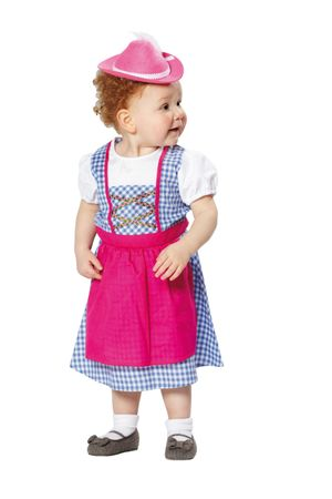 Kostüm Kinder Dirndl Kinderdirndl Kleid Gr.104 116 128 Oktoberfest Fasching – Bild 1