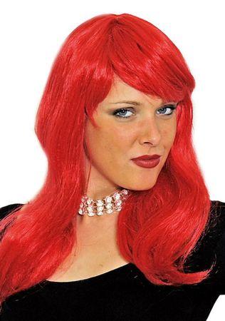 Perücke Francoise lang glatt Langhaarperücke mit Pony schwarz blond rot Karneval – Bild 6
