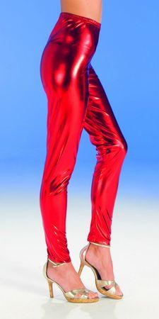 Kostüm rote Leggins glänzend Teufel Clown Glanzleggins Damen Karneval Halloween – Bild 1