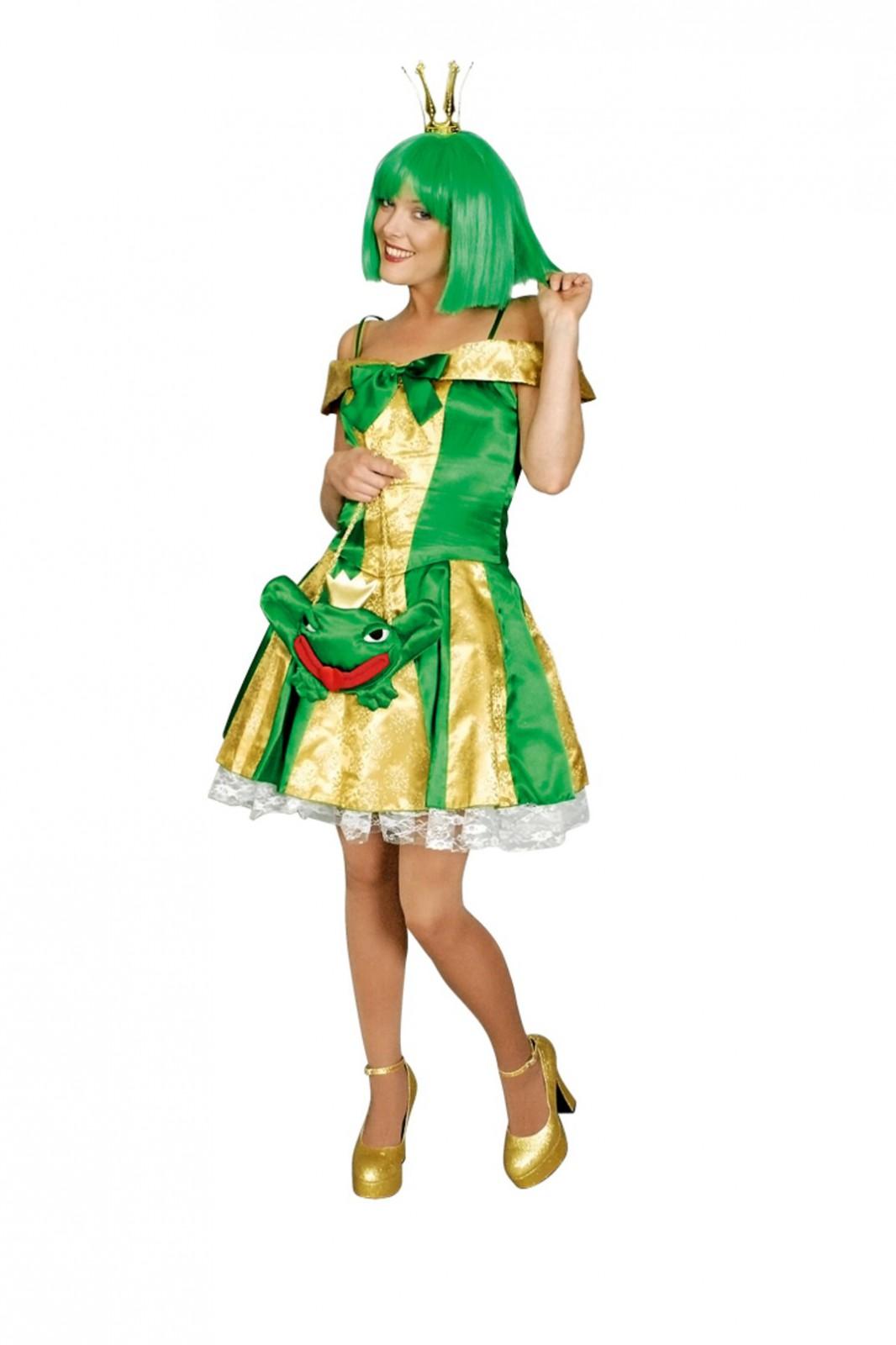 Froschkonigin Kostum Elfe Fee Gold Grun Marchen Gr 36 46 Karneval