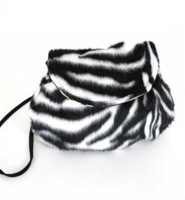 Kostüm Accessoires Zebra Tasche Plüsch Zebratasche Tierkostüm Karneval Fasching – Bild 1