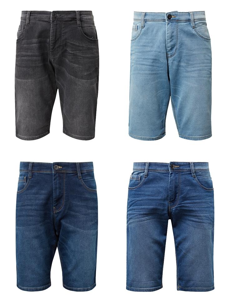 Details zu Tom Tailor Josh Regular Slim Herren Bermuda Jeans Shorts