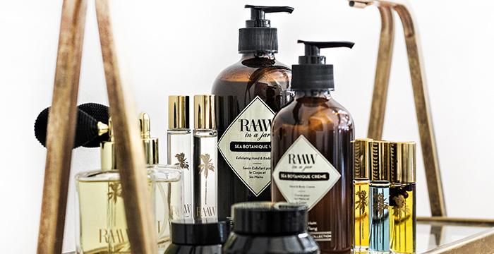 Beauty Produkte der Marke Raaw by Trice