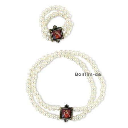 Set aus Perlenarmband & Ring, Herz Maria