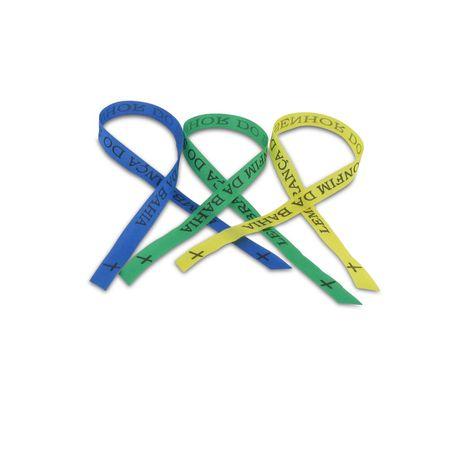 3 Bonfim Bänder  blau, grün, gelb
