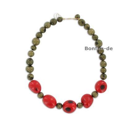 Halskette aus Paxiubao und Jarina Samen, original Sambaia