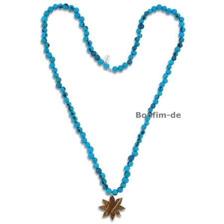 Halskette aus Acai, Kokos-Blüten Anhänger, in vielen Farben erhältlich, original Sambaia