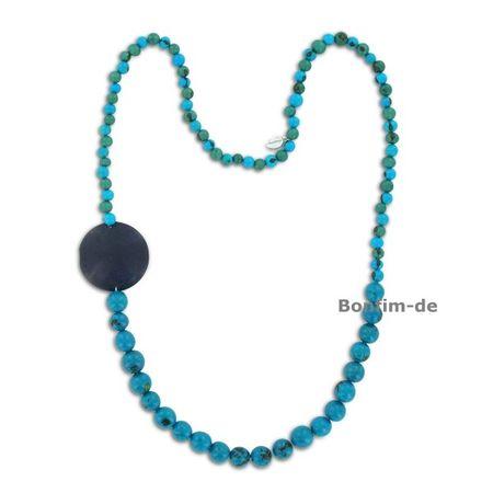 Halskette aus Acai und Paxiubao Samen, runder Anhänger aus Kokos, in mehreren Farben erhältlich, original Sambaia