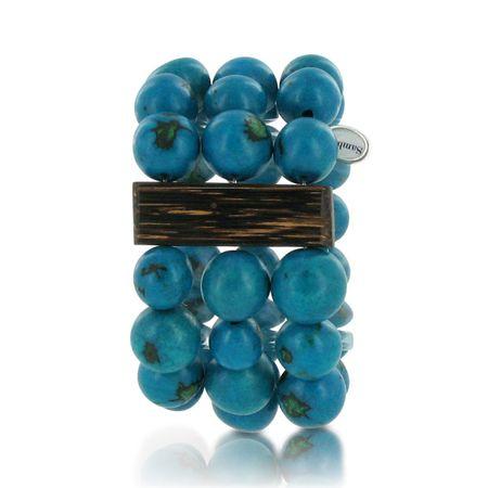 Armband aus Paxiubao Samen, dreireihig, in vielen Farben erhältlich, original Sambaia