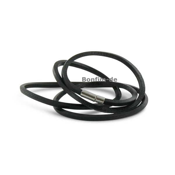 lederarmband wickelarmband 3fach oder halsband schwarz schmuck armb nder surfer style. Black Bedroom Furniture Sets. Home Design Ideas