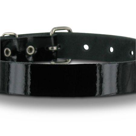 """SiaLinda: Halsband, schwarzes Lackleder """"pur"""", Leder"""