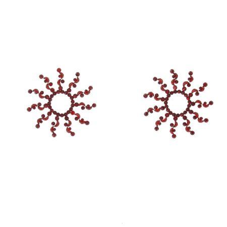 SiaLinda: Brust- und Körpertattoo Aoani rot, selbstklebend, 2er Set, Blumenmuster.