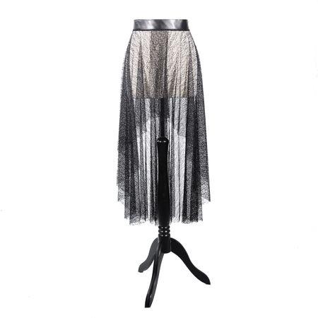 SiaLinda: Rock Oceana XI, schwarz, Netzstoff, asymetrisch, vorne und hinten geschlitzt, O
