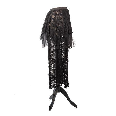 SiaLinda: Rock Marise, schwarze Spitze, mehrlagig, asymmetrisch
