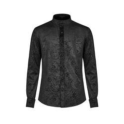 SiaLinda for Men: Hemd Leif, langärmlig, samtig, schwarz  001