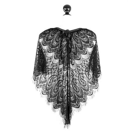 SiaLinda: Rock Top Chiara, schwarz, transparent, Spitze