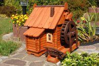 Wunderschöne große Wassermühle aus Holz im blockhausstil XXL