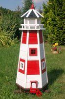 Wunderschöner großer Leuchtturm aus Holz mit LED Beleuchtung 001
