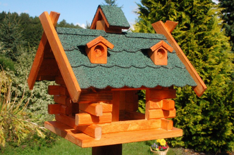 Vogelhaus Viereckig Mit Bitumenschindeln Nr 2 Grun
