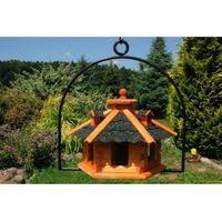 Vogelhäuschen, Vogelhaus mit Bitumschindeln, behandelt inkl. Bügel zum aufhängen 001