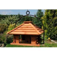 XXL Vogelhaus Nr20 Dach mit Holzlamellen und Bügel zum aufhängen 001