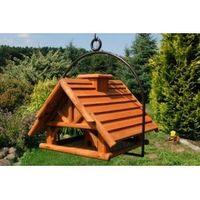 XXL Vogelhaus Nr19 Dach mit Holzlamellen und Bügel zum aufhängen (Kopie) 001