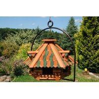Vogelhaus Nr13 Dach mit Holzschindeln und Bügel zum aufhängen 001