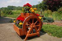 Blumentreppe, Blumenbank, Pflanztreppe 60cm Breite aus Holz, vollständig behandelt in braun Bild 5