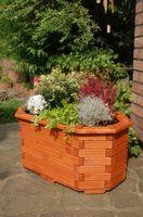 Pflanzkasten, Blumenkasten, Blumenkübel aus massivem Holz, für den Garten, (ohne Blumen)   001