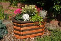 Pflanzkasten, Blumenkasten, Blumenkübel aus massivem Holz , für den Garten, (ohne Blumen)   Bild 3