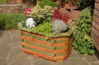 Pflanzkasten, Blumenkasten, Blumenkübel aus massivem Holz , für den Garten, (ohne Blumen)