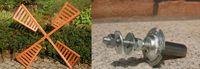 Flügel Windmühle Windrad Mühlenrad Windflügel wahlweise mit Kugellager verschiedene Längen Ersatzteile Bild 9