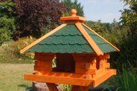 Futterhaus Vogelhaus mit Bitumenschindeln, versch. Dachfarben wählbar mit oder ohne Solarbeleuchtung V20 003