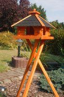 XXL Futterhaus Vogelhaus mit Bitumenschindeln versch. Dachfarben wählbar mit oder ohne Vogelhausständer V20 004