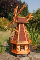 Standard 1,30m oder XXL 1,45m Windmühle, Kugelgelagerte Flügel, wahlweise mit Solar 004