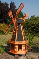 Große Windmühlen mit Solarbeleuchtung – Höhe 1,30 oder 1,45 Meter Bild 5