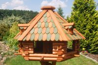 XXL Luxus Vogelhaus absoluter Blickfang, Vogelfutterhaus aus Holz, V13g XXL 001