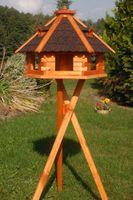 Riesiges XXL Vogelhaus, Futterhaus 67 x 45 cm imprägniert, Bitumschindeldach verschiedene Farben wählbar, mit oder ohne Vogelhausständer, V18 Bild 2