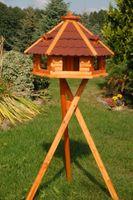 Riesiges XXL Vogelhaus, Futterhaus 67 x 45 cm imprägniert, Bitumschindeldach verschiedene Farben wählbar, mit oder ohne Vogelhausständer, V18 Bild 6