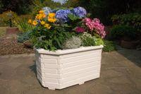 Pflanzkasten, Blumenkasten, Blumenkübel aus massivem Holz, für den Garten, (ohne Blumen)    002