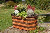 Blumentreppe, Blumenleiter, Pflanztreppe, Holz behandelt versch Farben / Modelle Bild 8